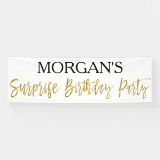 Surprise Birthday Party Banner