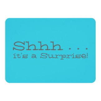 Surprise Birthday Party Invitation - Shhh