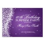 Surprise Birthday Party Sparkling Wave Purple 13 Cm X 18 Cm Invitation Card