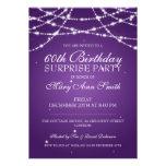 Surprise Birthday Party String of Stars Purple Custom Invite
