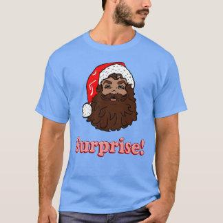 Surprise Brown skin Santa T-Shirt