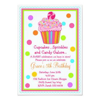 Surprise  Candy Cupcake Birthday Invitation
