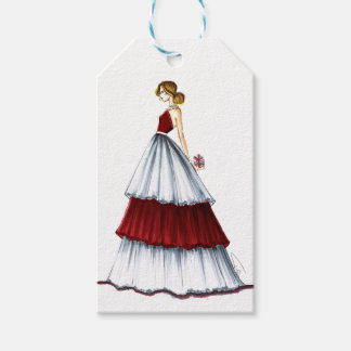 Surprise Christmas Fashion Illustration Tag