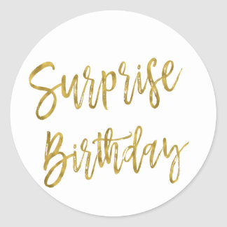 Surprise Gold Foil Birthday Sticker