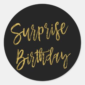 Surprise Gold Foil Birthday Sticker