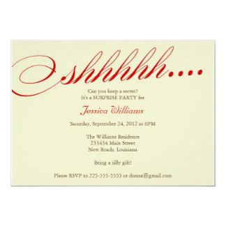 Surprise Party 13 Cm X 18 Cm Invitation Card