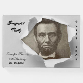 Surprise Party Abraham Lincoln add your text photo Guest Book