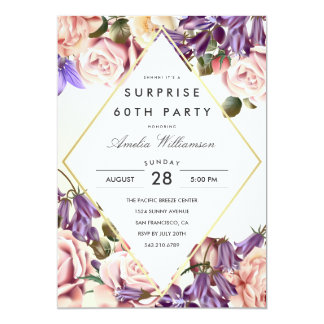 Surprise Party | Beautiful Bluebells and Roses Card