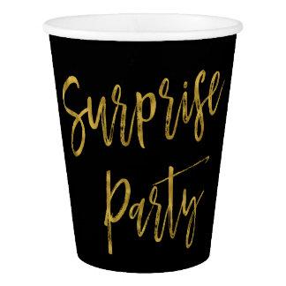 Surprise Party Gold Foil Paper Cup