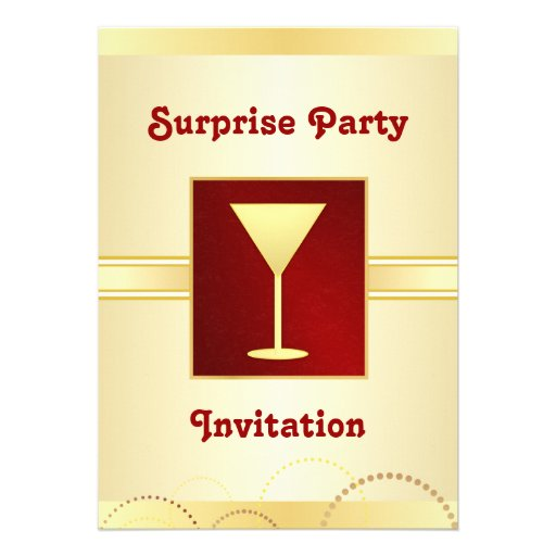 Surprise Party Invitations - Champagne