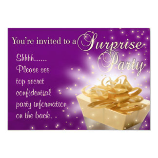 Surprise Party | Purple and Gold Card