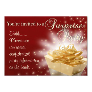 Surprise Party | Red and Gold Card