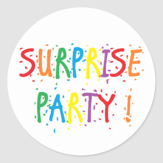 """""""Surprise Party"""" Stickers"""