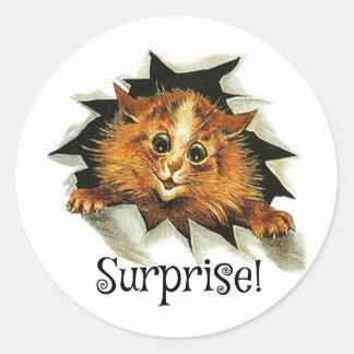Surprise Party Stickers, Cat Stickers Louis Wain