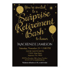 Surprise Retirement Party Invitation Gold Balloons