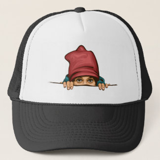 surprise trucker hat