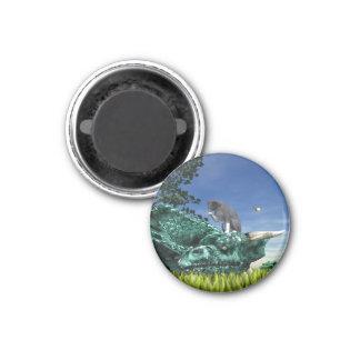 Surprise Visitor 3 Cm Round Magnet