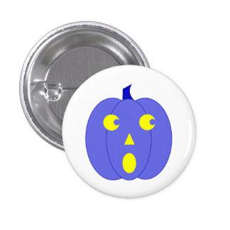 Surprised Blue Jack-o -Lantern Buttons