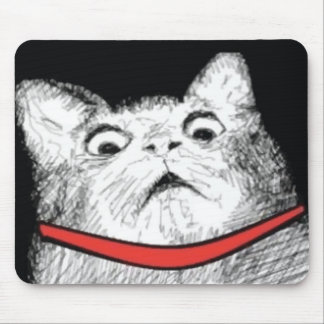Surprised Cat Gasp Meme - Mousepad