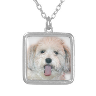 Surprised Dog Necklack Silver Plated Necklace