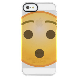 Surprised Emoji Clear iPhone SE/5/5s Case