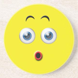 Surprised Emoji Drink Coaster