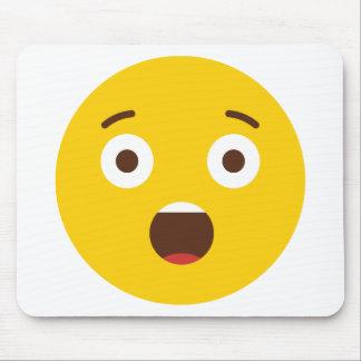 Surprised Emoji Mouse Pad