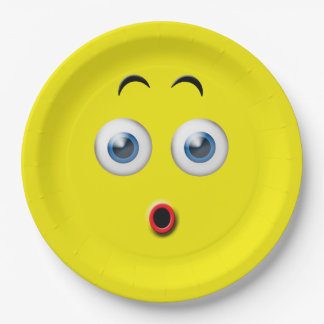 Surprised Emoji Paper Plate