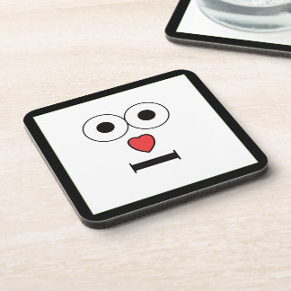 Surprised Face with Heart Nose Coaster