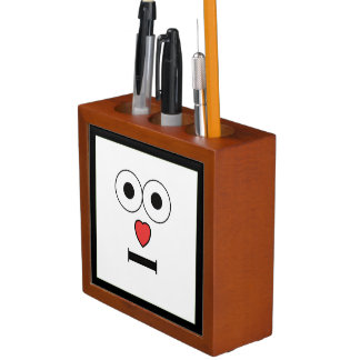 Surprised Face with Heart Nose Desk Organiser