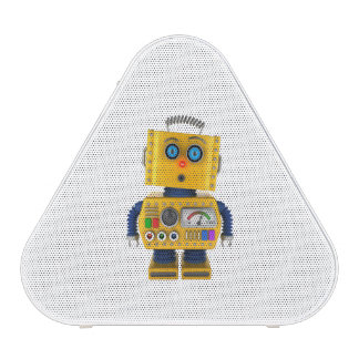 Surprised looking toy robot
