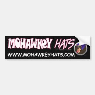 Surprised Mohawkey Monkey bumper sticker