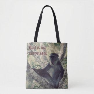 Surprised Monkey Tote Bag