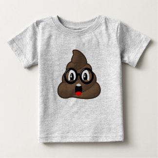 Surprised Poop Glasses Emoji Baby T-Shirt