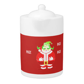Surprised Santa teapot