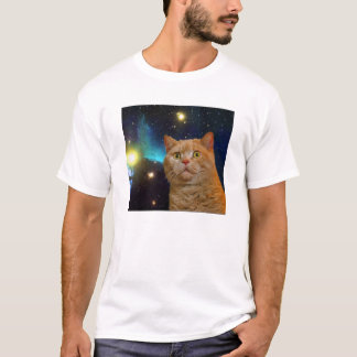 Surprised Space Kitty T-Shirt