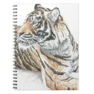 Surprised Tiger Watercolour Notebook