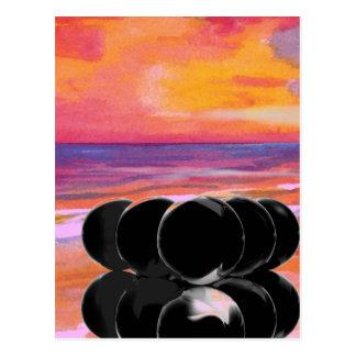 Surreal Art Cards Billiards Beach Postcard