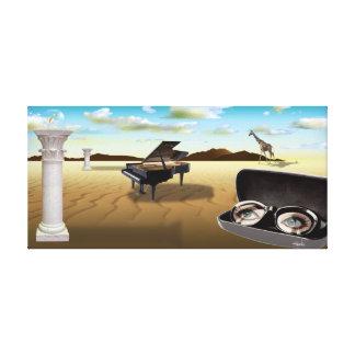 Surreal Art - G Sharp in the Desert 36 x 17 Canvas Print