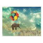 Surreal Balloon Elephant Postcard