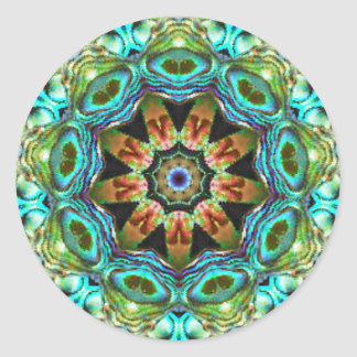Surreal Beauty Fractal Classic Round Sticker