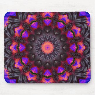 Surreal Blossoms, Flower Mandala Mouse Pad
