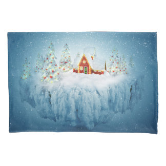 Surreal Christmas Fantasy (2 sides) Pillowcase