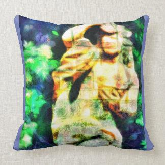 Surreal Classical Garden Statue Pillow