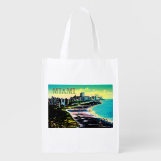 Surreal Colors of Miami Beach Florida Reusable Grocery Bag