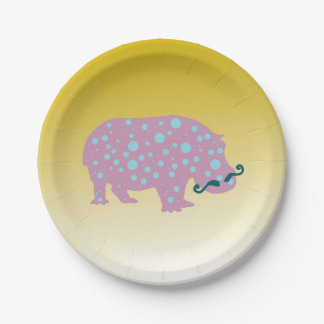 Surreal Cool Trendy  Custom Paper Plates 7 in 7 Inch Paper Plate