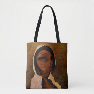 Surreal Face Tote Bag
