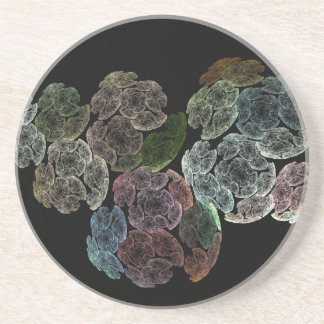 Surreal fractal flowers coaster