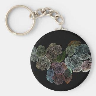 Surreal fractal flowers key ring