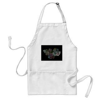 Surreal fractal flowers standard apron